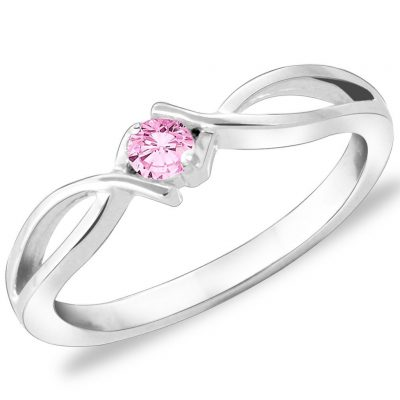 pink solitaire-ring